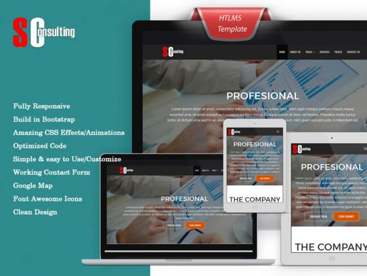 SConsulting Bootstrap HTML Premium Template